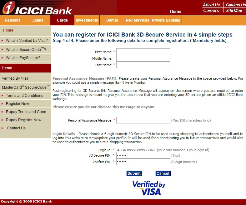 Creating Credit Card With ICICI Pocket