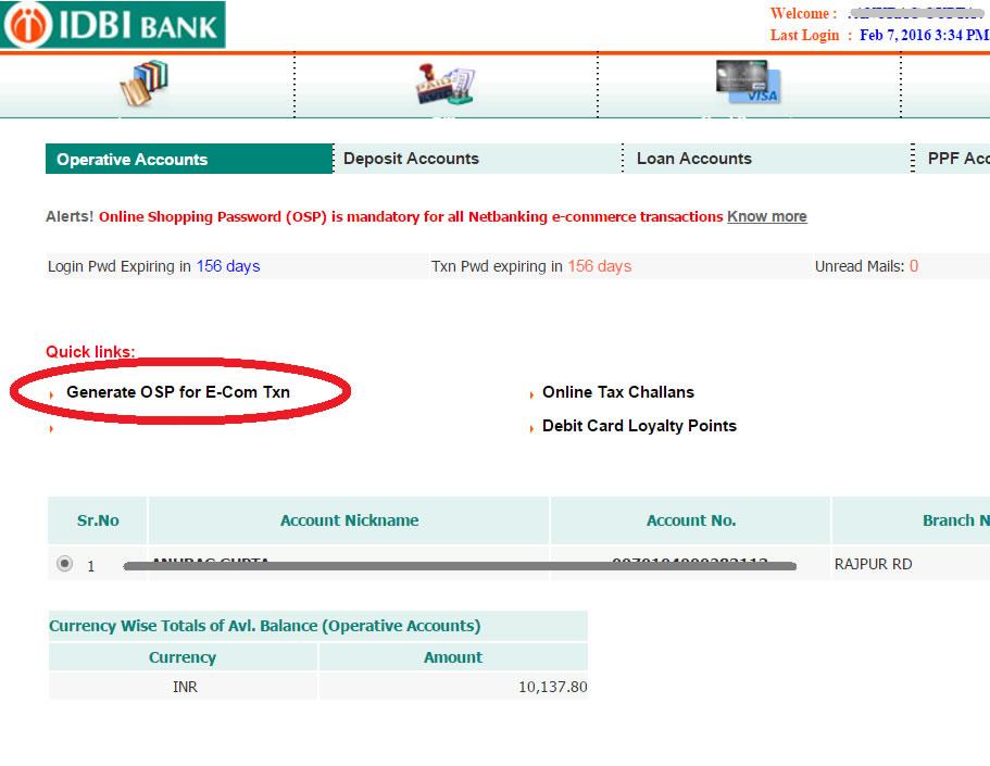 idbi mobile banking process relationship