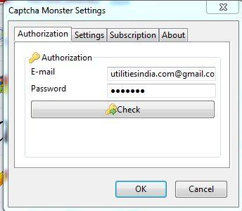 Enter login & password