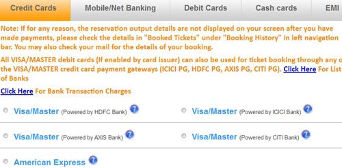 Credit Card Payment Option