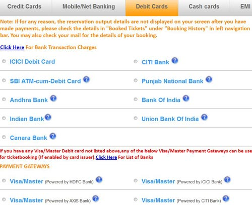 How to Pay by Debit Cards at IRCTC for Booking Tickets ...