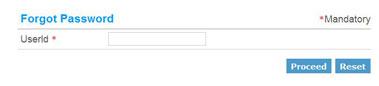 Retrieve Forgotten password page