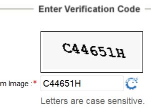 IRCTC ticket form Captcha