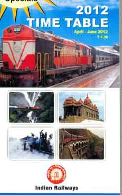 Indian rail time table cover 2013